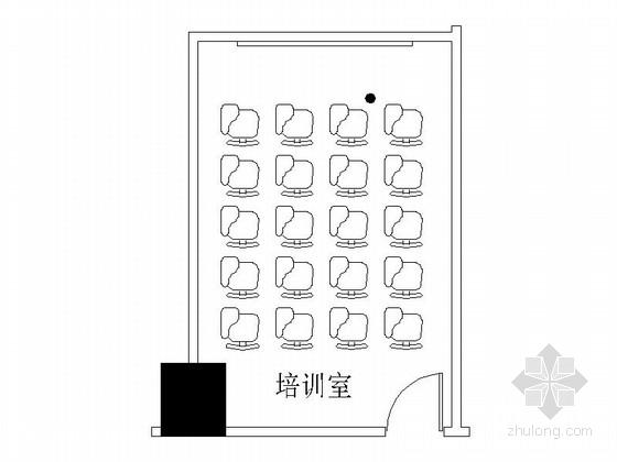 [成都]五星级豪华酒店培训室装修施工图