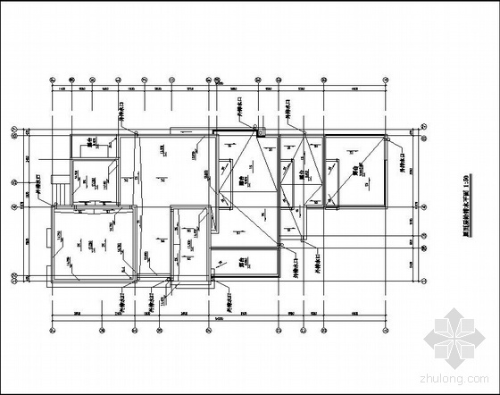 某四层双拼叠加别墅给排水图纸