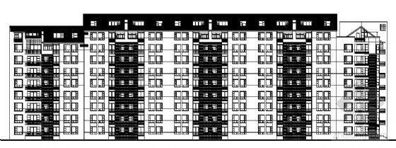 深圳某小区九层住宅楼建筑施工图