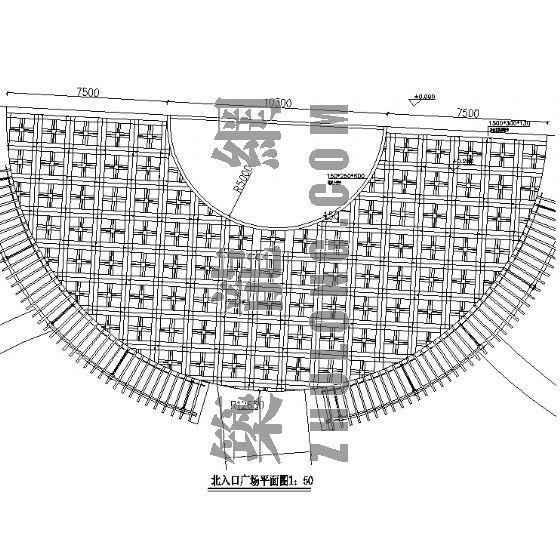 浙江某小区北入口广场施工图
