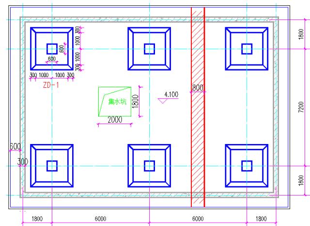筏基出现柱墩、基坑、后浇带怎样计算模板和防水