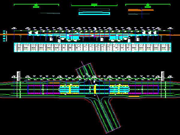 U形平面方案资料下载-单孔三车道双跨矩形闭合框架城市主干路下穿隧道工程设计图纸59张CAD(U槽,喷锚防护)