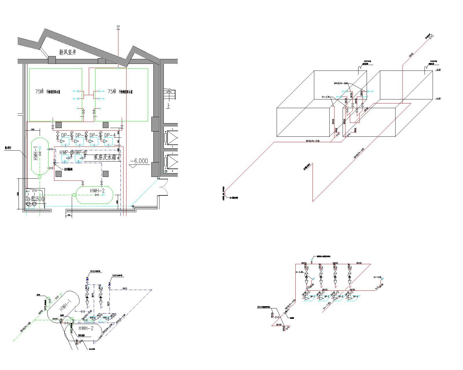室内外给水排水及消防设计;但底层柴油发电机房,燃油热水锅炉房的水图片