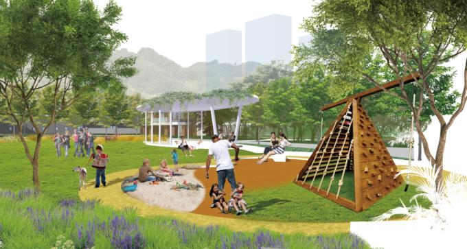 [福建]客家土楼文化生态高层居住区景观设计方案