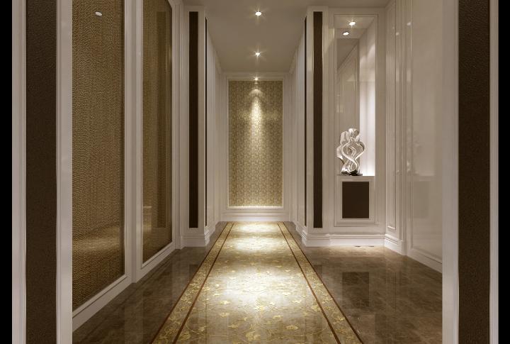 欧式古典家装效果图资料下载-银湖别墅家装设计完整施工图及效果图