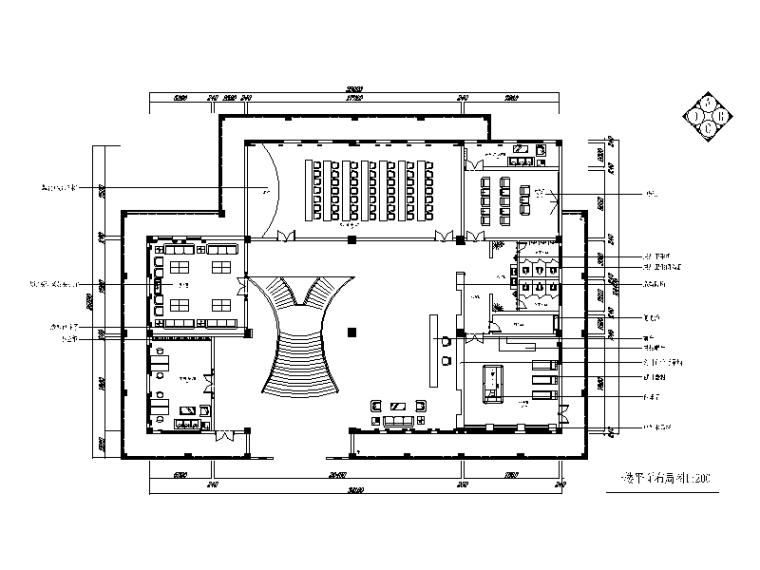 空间划分:成套办公空间 办公类型:办公楼 图纸深度:施工图 设计图片