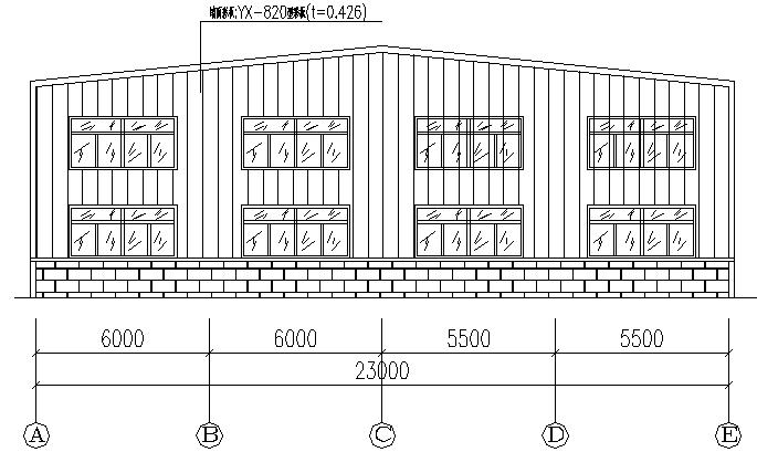 单跨门式刚架钢结构工程厂房施工图(CAD,12张)_2