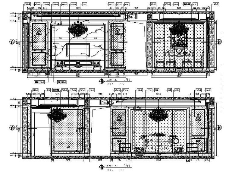 [长沙]欧式低调奢华四居室设计施工图(含效果图)_2