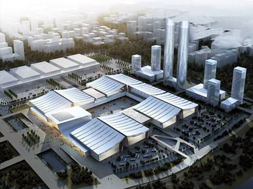 长沙57.8亿国际会展中心年内迎客,造型寓意浏阳河波浪!