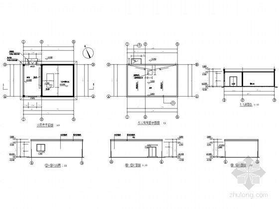 单层框架结构水泵房建筑结构图