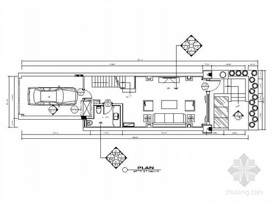 [浙江]上虞简约欧式四层别墅装修CAD施工图(含效果图)