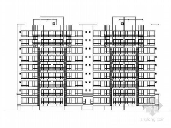 [广东]现代小高层框架商住楼建筑施工图