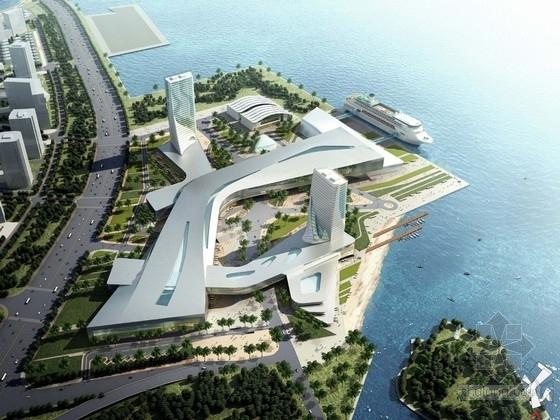 [福建]流线型滨海旅游服务中心设计方案文本(含多个地块)
