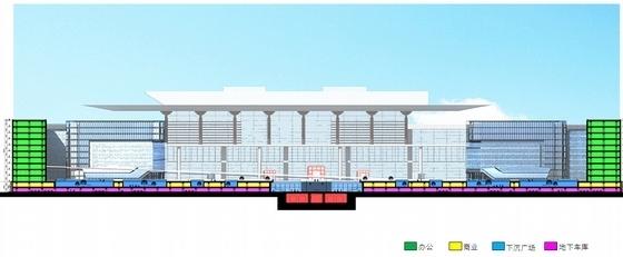 大型交通枢纽站建筑设计分析图
