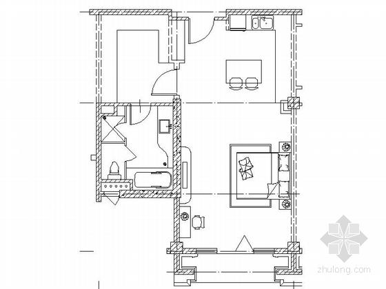 现代风格5层酒店式公寓平面图