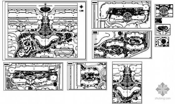 某小区景观设计方案平面图-2