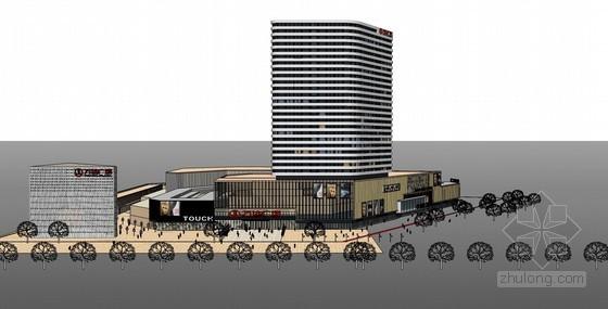商业中心广场建筑SketchUp模型下载