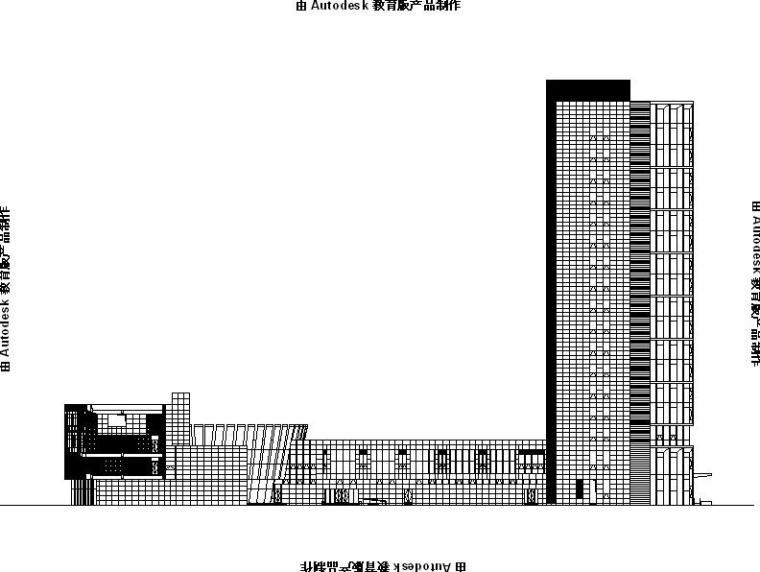[浙江]高层现代感幕墙立面金融办公中心建筑施工图(500多张图)