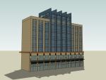 现代多层建筑SketchUp模型下载