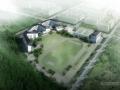 [深圳]多层48班围合状坡屋顶中学建筑设计文本