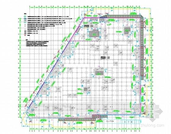 五轴搅拌桩插型钢资料下载-[上海]10米深基坑SMW工法桩加支撑支护施工图(型钢斜抛撑 混凝土角撑)