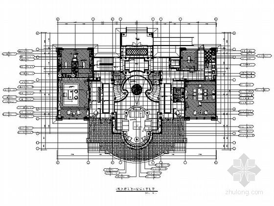 [福建]豪华古典欧式风格酒店式公寓装修室内设计施工图(含方案效果)