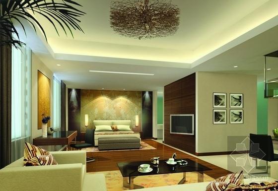 [北京]国际集团时尚现代商务酒店室内设计施工图(含效果图) 效果图