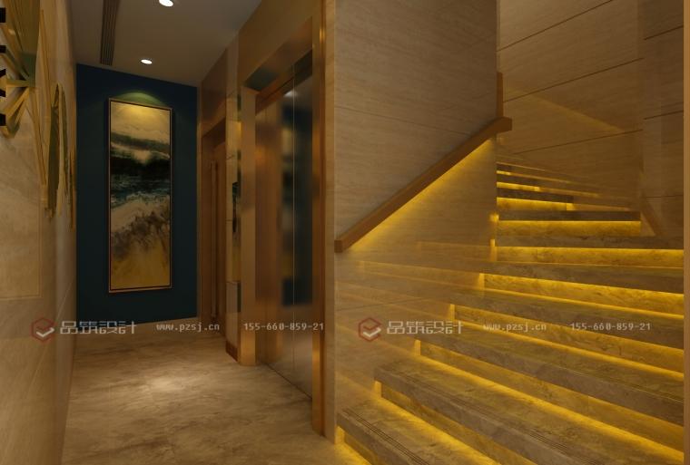 沈阳地产公司办公室设计效果图震撼来袭-6楼梯间.jpg