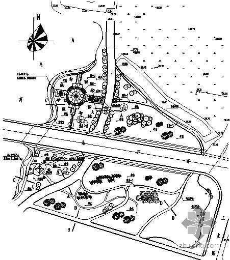 天津某河道滨河绿地景观设计施工图