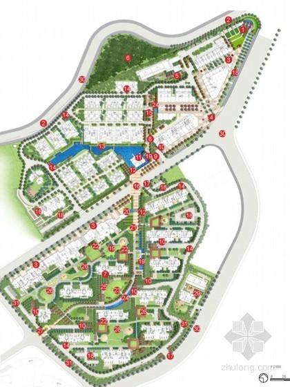 [福州]中式现代居住区景观设计方案