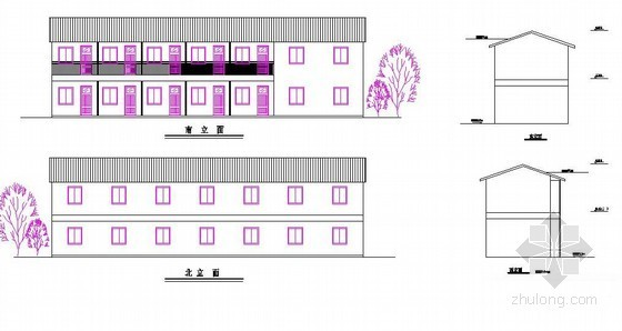 工地生活区布置图(临时办公楼 配电室 宿舍楼 养护室)