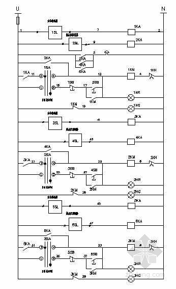排污泵电气控制原理图