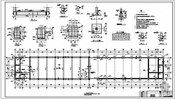 v型滤池全套施工图资料下载-某水厂V型滤池设备间结构设计图