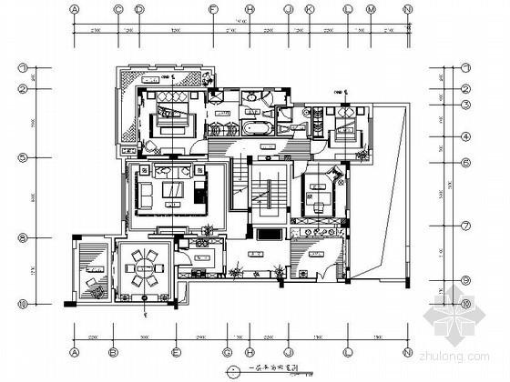 混搭D5户型双层复式样板房装修施工图