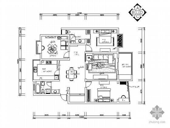 [无锡]现代中式风格三居室装修图(含效果)