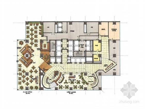 [上海]舒适悠扬假日酒店概念设计方案(含手绘图)