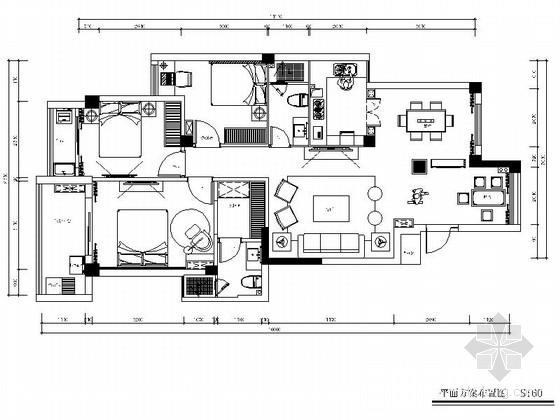 [泰州]紧凑三居室室内装修图