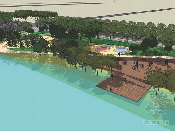 [苏州]城市中心生态滨水景观规划设计方案