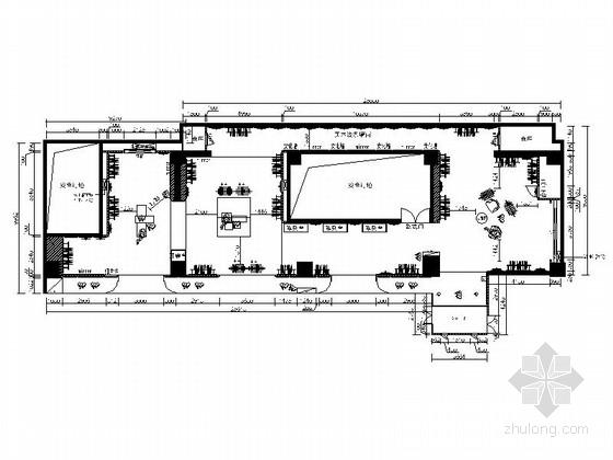 [河南]现代时尚韩文貂皮店装修CAD施工图(含效果图)