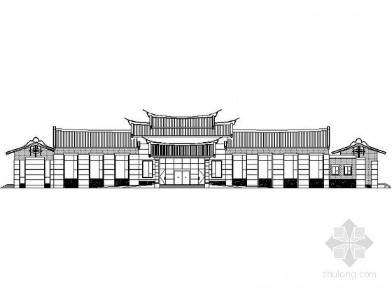 [福建]某二层中式风格宾馆建筑施工图