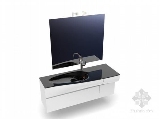 大理石卫生间洗手台3D模型