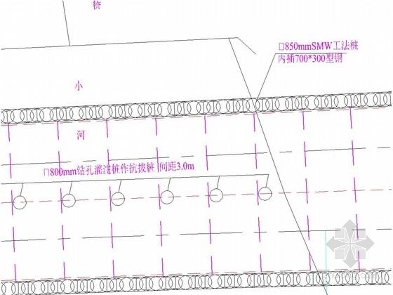 [江苏]地铁站基坑桩撑支护施工图