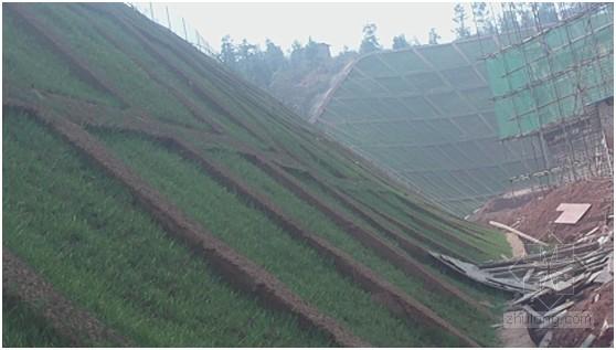 锚杆格梁植物护坡施工工法