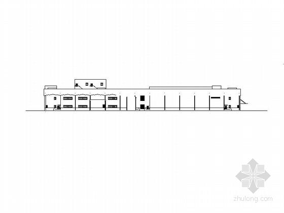 [上海]两层钢框架厂房施工图设计