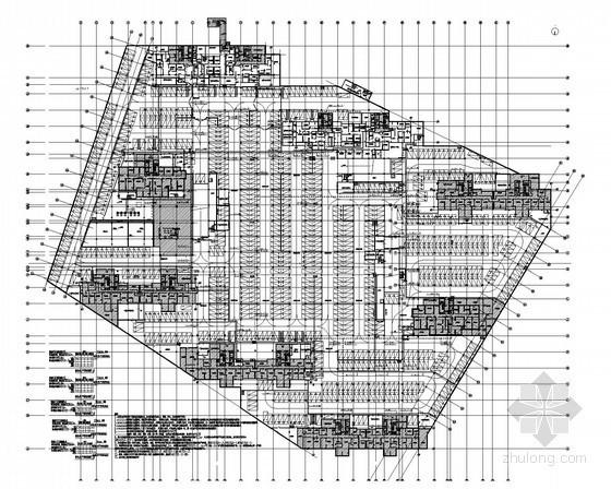 [江苏]17万平广场地下车库全套电气施工图纸(知名设计院)
