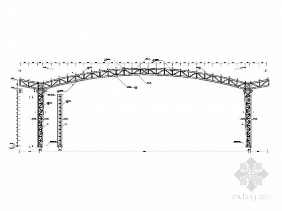 单层刚架结构操场结构施工图
