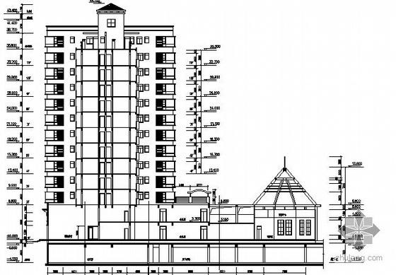 某小区商业步行街A栋18层临街商住楼建筑施工图-2
