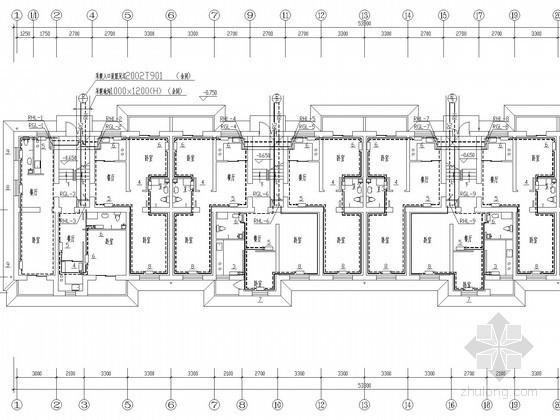 多层经济适用楼散热器采暖及煤气系统设计施工图(含给排水设计)