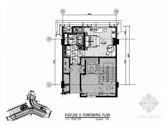 [深圳] 蛇口某国际大酒店K5房型室内装修图