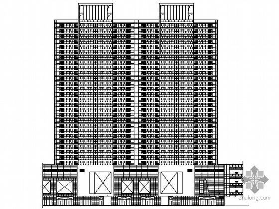 [郑州]某高档国际中心住宅商业综合体建筑施工套图